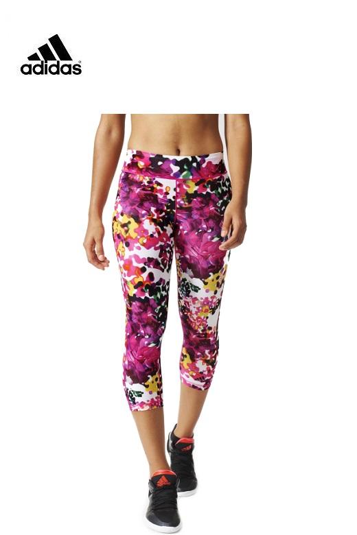 Adidas női leggings rövidszárú Flower