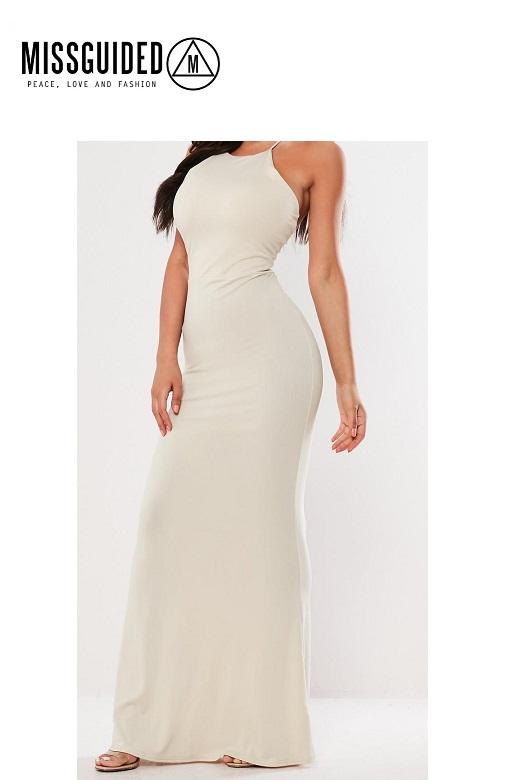 Missguided női ruha keresztpántos cross back maxi dress