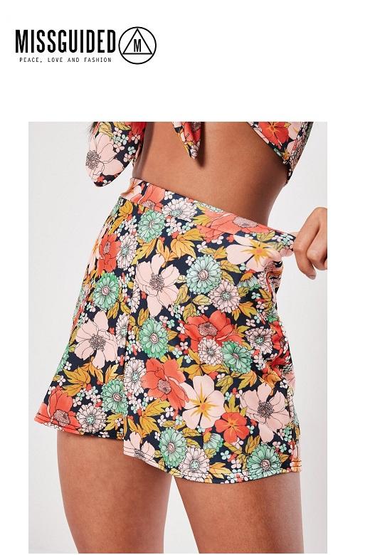 Missguided női short virágmintás Floral jersey floaty