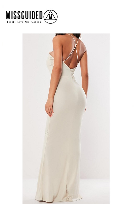 Missguided női ruha keresztpántos cross back maxi dress